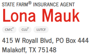 State Farm Lona Mauk 2 Description 1 CedarCreekLake.Online