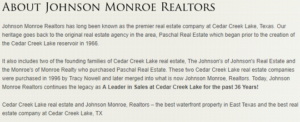 Johnson and Monroe 6 about Johnson and monroe CedarCreekLake.Online