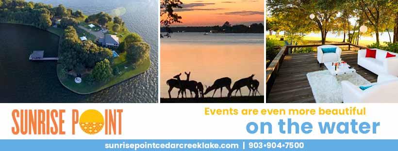 Sunrise Point Events and Weddings 1 SunrisePoint Header2 CedarCreekLake.Online