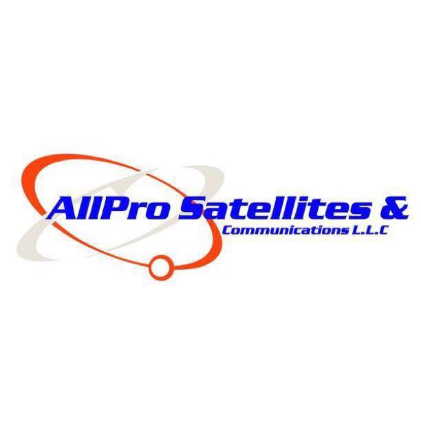 All Pro Satellites Communications logo red grey blue
