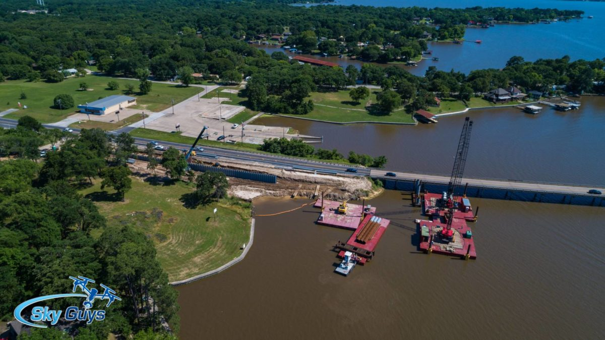 """WATCH THE BRIDGE-FIRST CONCRETE POURED THIS WEEK"" 1 brigde wed may 16 2 CedarCreekLake.Online"
