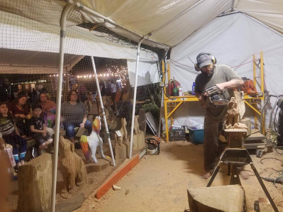 Chainsaw Artist Chad Kilpatrick to perform live carving and Prize Give Away June 8 Cedar Creek Expo 4 chainsaw5 CedarCreekLake.Online