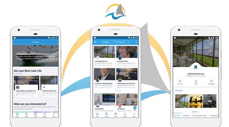 Cedar creek lake online app demonstration on iphone