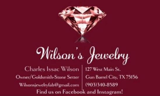 Wilson's Jewelry Gun Barrel City, TX.