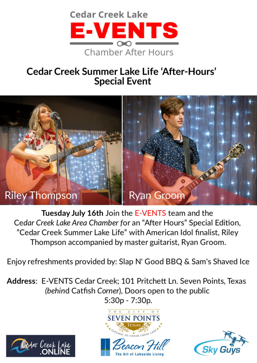 Cedar Creek Lake After Hours with Riley Thompson at E-Vents in Seven Points