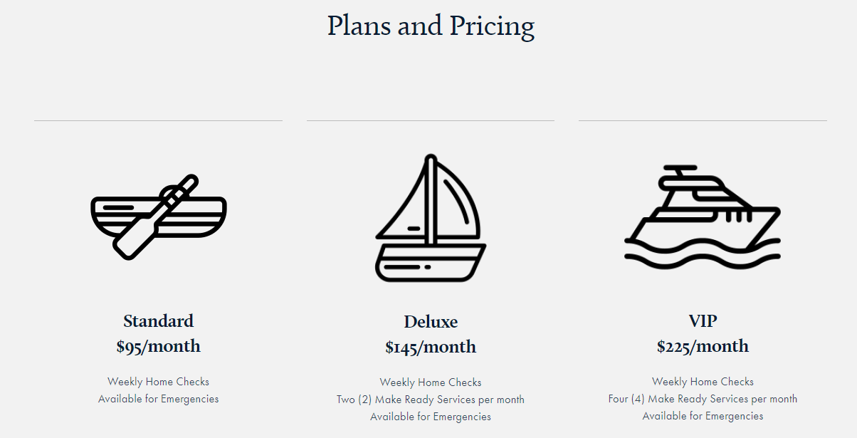Perfect Drift Lake Home Management 4 pricing plan 2 CedarCreekLake.Online