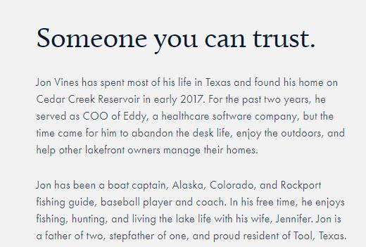 Perfect Drift Lake Home Management 3 trust CedarCreekLake.Online