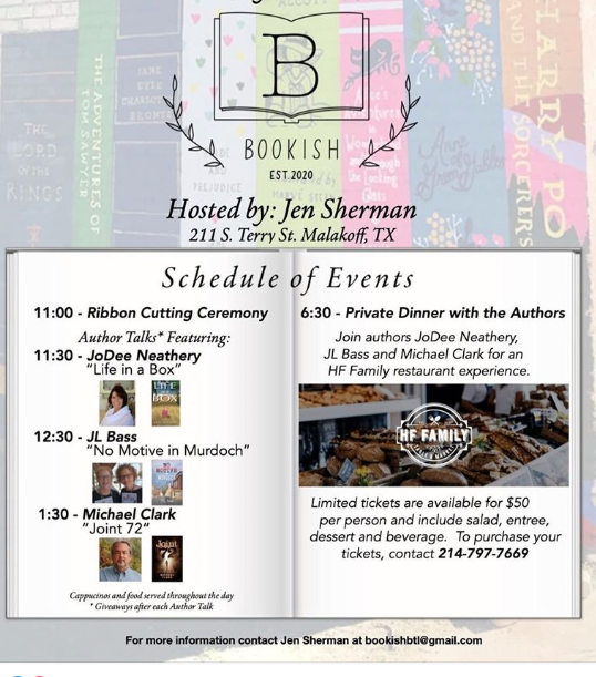 Bookish Grand Opening Event and HF Family Dinner