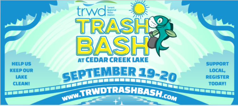 TRWD Trash Bash at Cedar Creek Lake