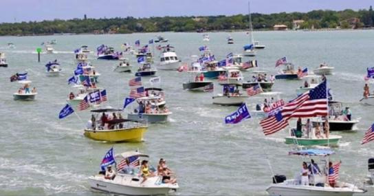 Cedar Creek Lake Trump Flotilla