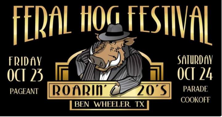federal hog festival poster in ben wheeler texas