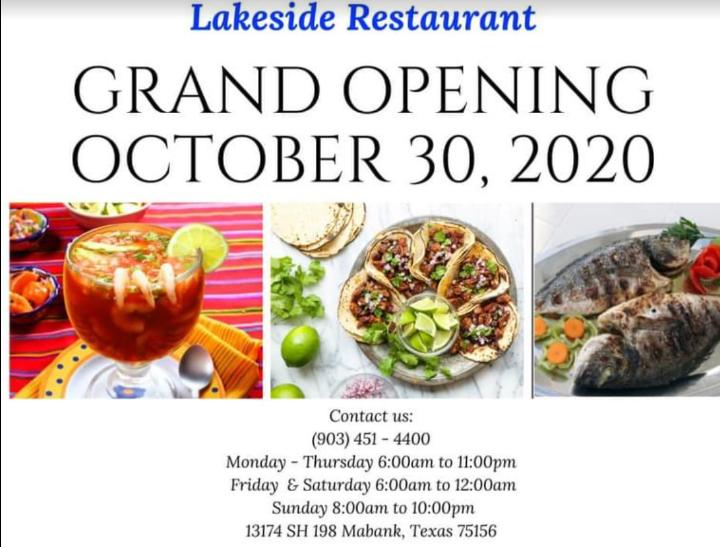 Lakeside Restaurant Grand Opening