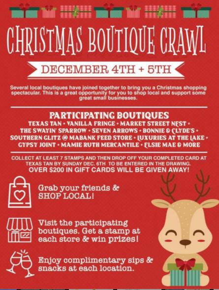 Christmas Boutique Crawl