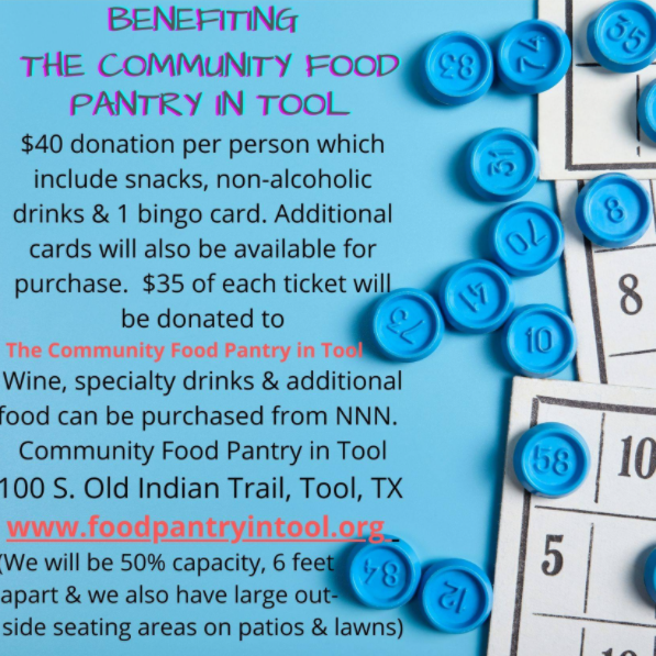 Bingo Benefiting Community Food Pantry in Tool 1 triplen bingo CedarCreekLake.Online